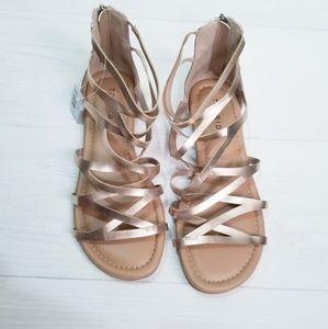 Rose Gold Sandals (Wide)